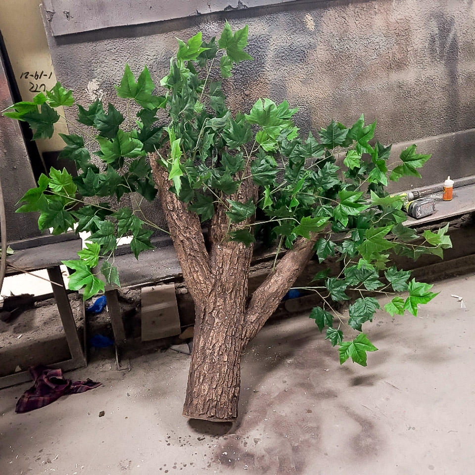 Flexbark faux bark finished branch