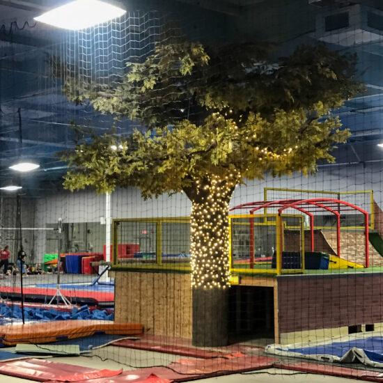 KTR Indoor Action Sports Playground Flexbark Faux Tree