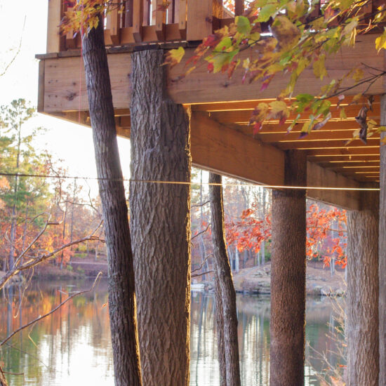 Flexbark covered deck posts