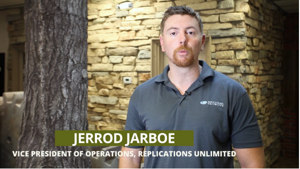Screen Grab of Jerrod Jarboe, VP of Operations at Replications Unlimited